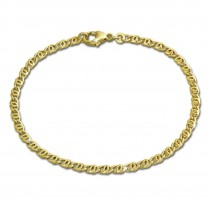 GoldDream Armband Tigerauge 333 Gold 19cm 8 Karat GDA0039Y