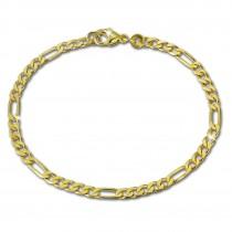 SilberDream Armband Figaro diamantiert 333 Gold 19cm 8 Karat GDA0189Y