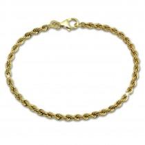 SilberDream Armband Kordel hohl 333 Gold 18,5cm 8 Karat GDA0328Y