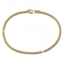 SilberDream Armband Zopf bicolor 333 Gold 19cm 8 Karat GDA0519T