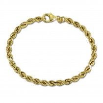SilberDream Armband Kordel hohl 333 Gold 19cm 8 Karat Echtschmuck GDA0559Y