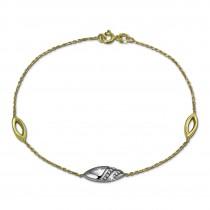 GoldDream Armband Glamour Zirkonia weiß 333 Gold 18,5cm 8 Karat GDA5018T