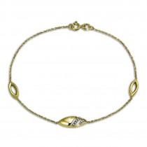 GoldDream Armband Glamour Zirkonia 333 Gold 18,5cm 8 Karat GDA5018Y