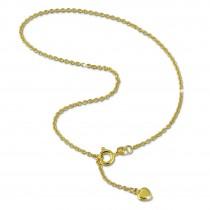 GoldDream Fußkette Herz 333 Gold 25cm Damen 8 Karat Echtschmuck GDF0055Y