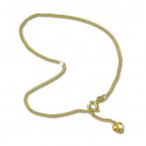GoldDream Fußkette Herzchen 25cm Damen 333 Gold 8K Echtschmuck GDF0065Y
