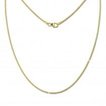 SilberDream Collier Kette Zopf 333 Gold Damen 45cm 8 Karat GDK00645Y