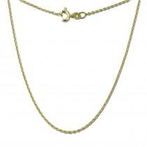 GoldDream Damen Colliers Halskette 50cm Gelbgold 8 Karat GDKB00150Y