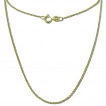 GoldDream Damen Colliers Halskette 50cm Gelbgold 8 Karat GDKB00750Y