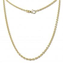 GoldDream Damen Colliers Halskette 50cm Gelbgold 8 Karat GDKB00850Y
