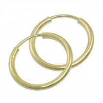 GoldDream Creole Simply 20mm Ohrring 333 Gelbgold Echtschmuck GDO0002Y