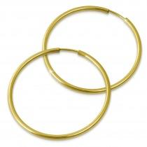 SilberDream Creole Simply 50mm Ohrring 333 Gelbgold Echtschmuck GDO0005Y