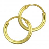 GoldDream Gold Creole 11mm Ohrring 333er Gelbgold Echtschmuck GDO0020Y