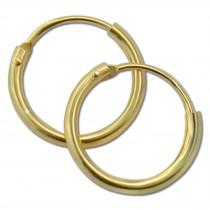 GoldDream Gold Creole 13mm Ohrring 333er Gelbgold Echtschmuck GDO0022Y