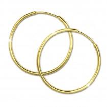 SilberDream Gold Creole 32mm Ohrring 333er Gelbgold Echtschmuck GDO0033Y