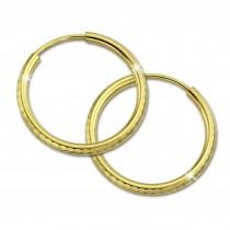 SilberDream Goldcreole Schliff 20mm Ohrring 333 Gelbgold Echtschmuck GDO0042Y