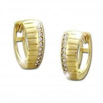 SilberDream Creole Muster Zirkonia weiß Ohrring 333 Gold Echtschmuck GDO523WY