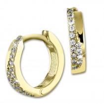 SilberDream Creole Tiny Zirkonia weiß Ohrring 333 Gold Echtschmuck GDO543WY
