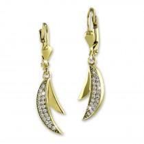 SilberDream Ohrhänger Doppel-Mond Zirkonia weiß Ohrring 333er Gold GDO545WY