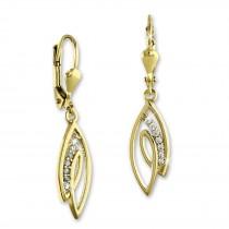 SilberDream Ohrhänger Loop Zirkonia Ohrring 333 Gold Echtschmuck GDO547WY