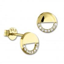 SilberDream Ohrstecker Rund Zirkonia weiß Ohrring 333 Gold Echtschmuck GDO560WY