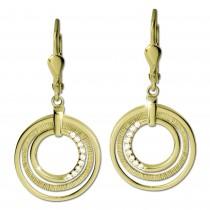 GoldDream Ohrhänger Circle Zirkonia weiß Ohrring 333er Gold GDO5639Y