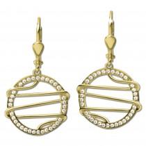 GoldDream Ohrhänger Style Zirkonia weiß Ohrring 333er Gold GDO5643Y