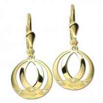 GoldDream Ohrhänger Orient Zirkonia weiß Ohrring 333er Gold GDO5653Y