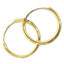 GoldDream Damen Creolen Ohrring 13mm Gelbgold 8 Karat GDOB00213Y