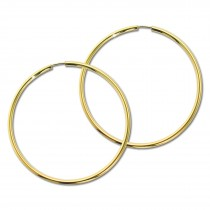 GoldDream Damen Creolen Ohrring 60mm Gelbgold 8 Karat GDOB00360Y