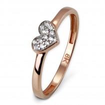 SilberDream Gold Ring Herz Zirkonia weiß Gr.56 333er Rosegold GDR503E56