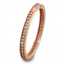 SilberDream Gold Ring Zirkonia weiß Gr.54 333er Rosegold GDR504E54