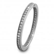 SilberDream Gold Ring Zirkonia weiß Gr.58 333er Weißgold GDR504J58