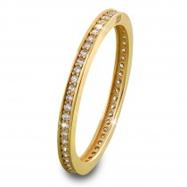SilberDream Gold Ring Zirkonia weiß Gr.60 333er Gelbgold GDR504Y60