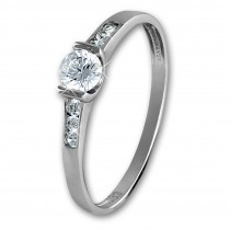 GoldDream Gold Ring Kristall Zirkonia weiß Gr.54 333er Weißgold GDR508J54