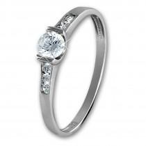 SilberDream Gold Ring Kristall Zirkonia weiß Gr.58 333er Weißgold GDR508J58