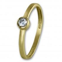 GoldDream Gold Ring Stein Zirkonia weiß Gr.60 333er Gelbgold GDR509Y60