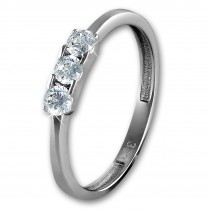 GoldDream Gold Ring 3er Zirkonia weiß Gr.56 333er Weißgold GDR511J56