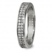 GoldDream Gold Ring Gr.54 Zirkonia weiß 333er Weißgold GDR514J54