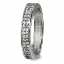 GoldDream Gold Ring Gr.58 Zirkonia weiß 333er Weißgold GDR514J58
