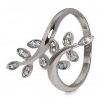 GoldDream Gold Ring Gr.56 Ranke Zirkonia 333er Weißgold GDR515J56