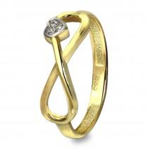 GoldDream Gold Ring Gr.58 Unendlich mit Herz 333er Gelbgold GDR516Y58