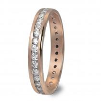 GoldDream Gold Ring Gr.54 Zirkonia weiß 333er Roségold GDR520E54