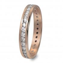 GoldDream Gold Ring Gr.56 Zirkonia weiß 333er Roségold GDR520E56