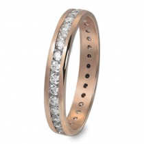 GoldDream Gold Ring Gr.58 Zirkonia weiß 333er Roségold GDR520E58