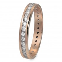 GoldDream Gold Ring Gr.60 Zirkonia weiß 333er Roségold GDR520E60