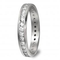 GoldDream Gold Ring Gr.56 Zirkonia weiß 333er Weißgold GDR520J56