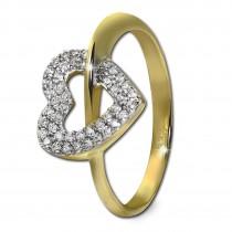 GoldDream Gold Ring Gr.58 Herz Zirkonia 333er Gelbgold GDR521Y58