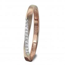 GoldDream Gold Ring Gr.54 Swing Zirkonia weiß 333er Roségold GDR523E54