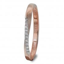GoldDream Gold Ring Gr.56 Swing Zirkonia weiß 333er Roségold GDR523E56