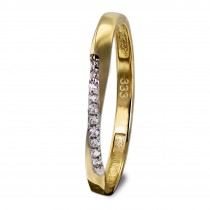 GoldDream Gold Ring Gr.54 Swing Zirkonia weiß 333er Gelbgold GDR523Y54